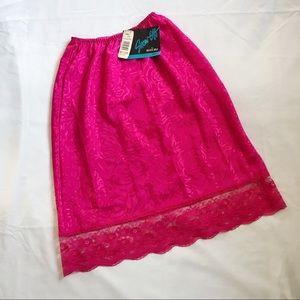 Vintage Satin Slip Skirt